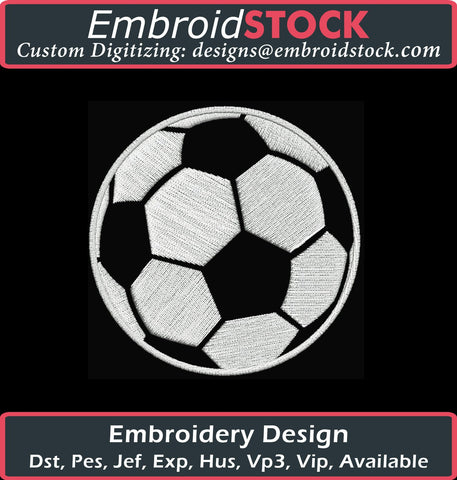 Simple Soccer Ball - Embroidstock