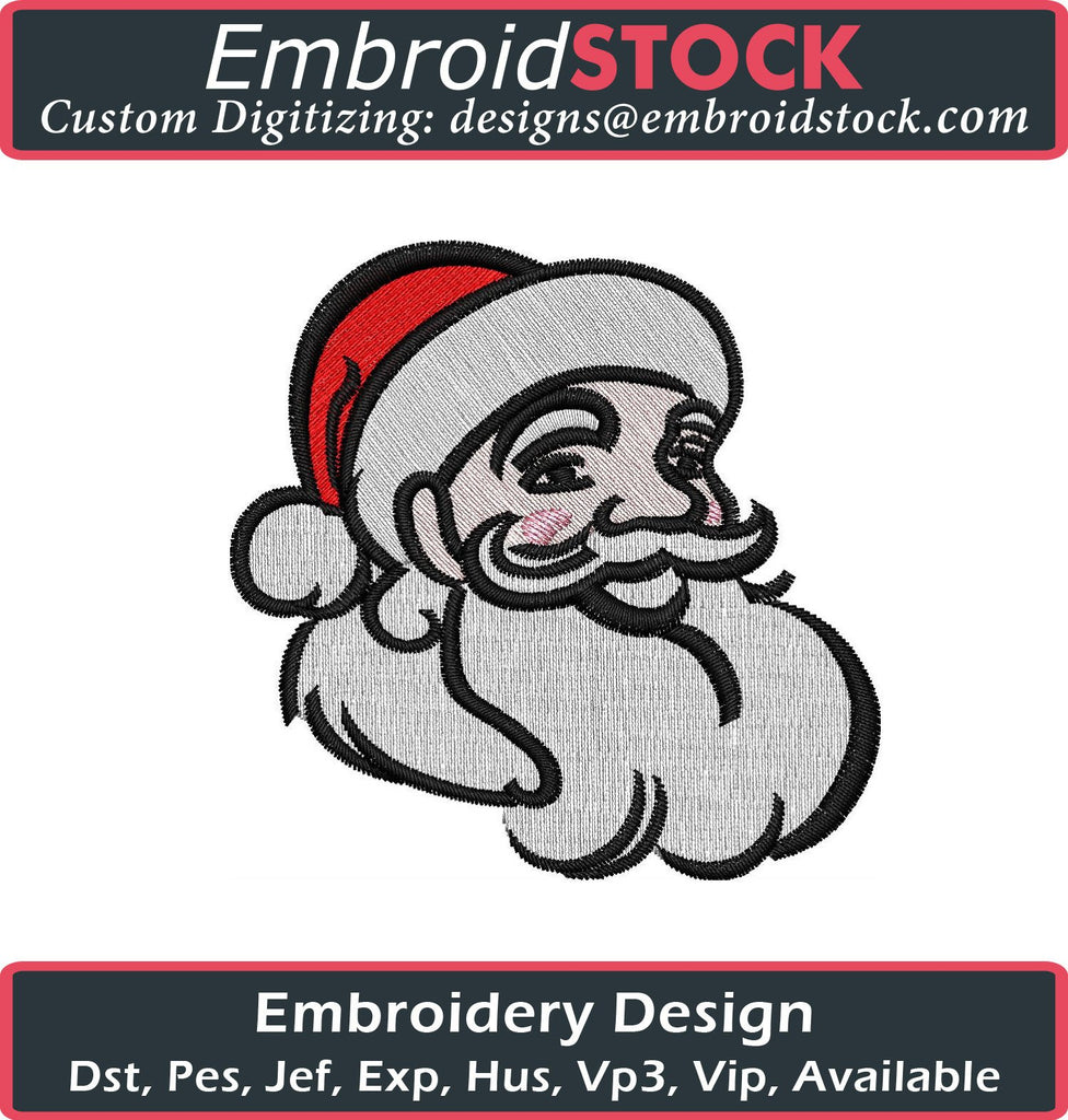 Santa Embroidery Design - Embroidstock