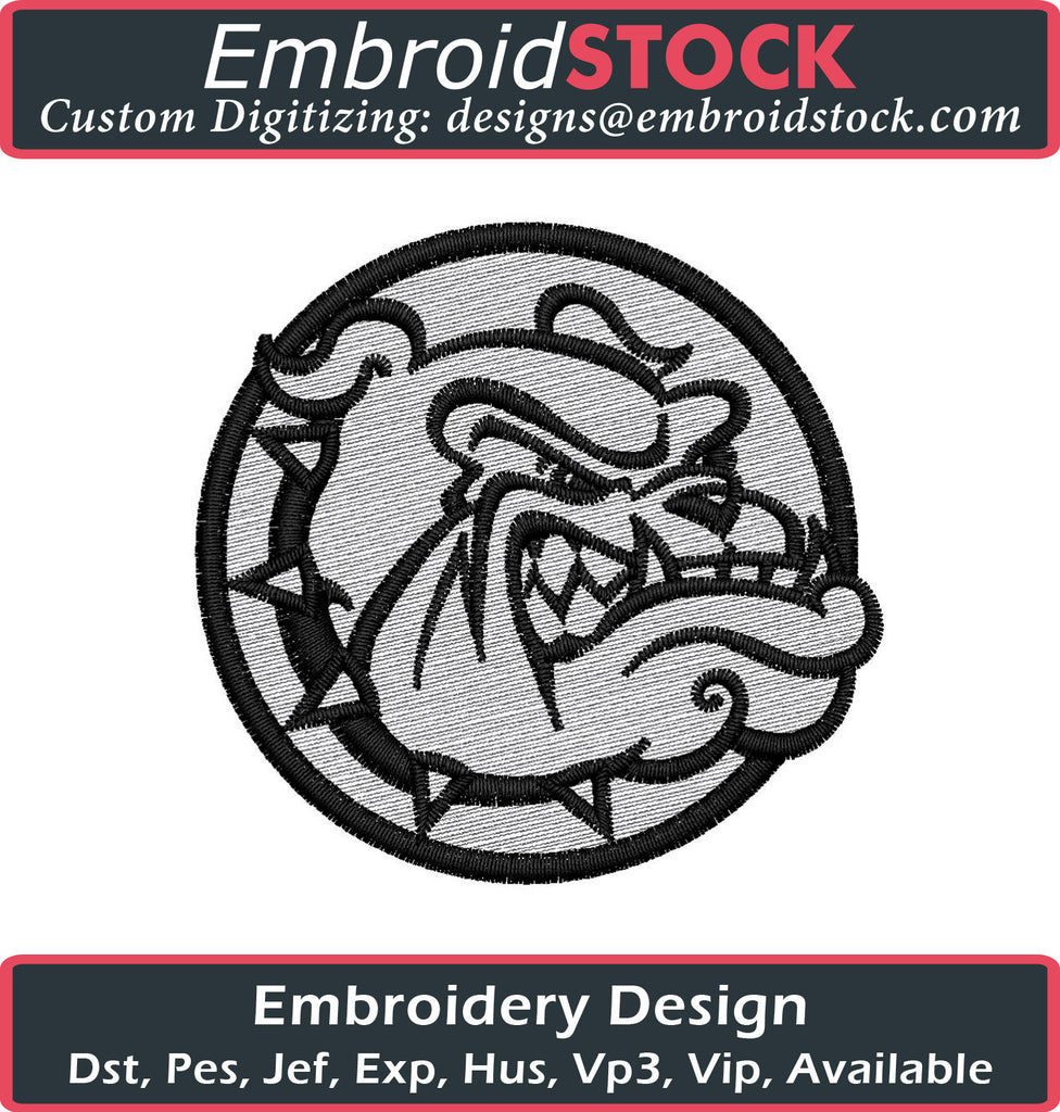 Bulldog Embroidery Design - Embroidstock