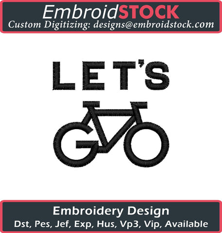 Lets Go Embroidery Design - Embroidstock