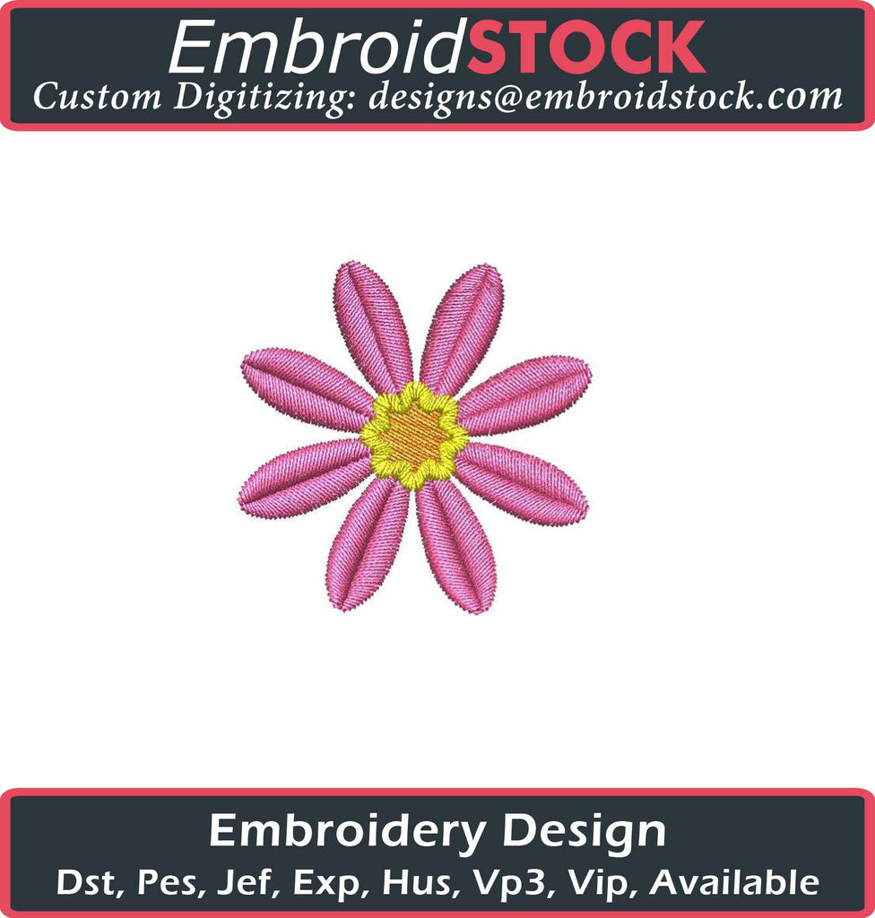Daisy Embroidery Design - Embroidstock
