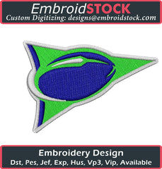 Football logo Embroidery Design - Embroidstock