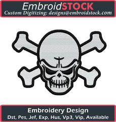 Plain Skull Embroidery Design - Embroidstock
