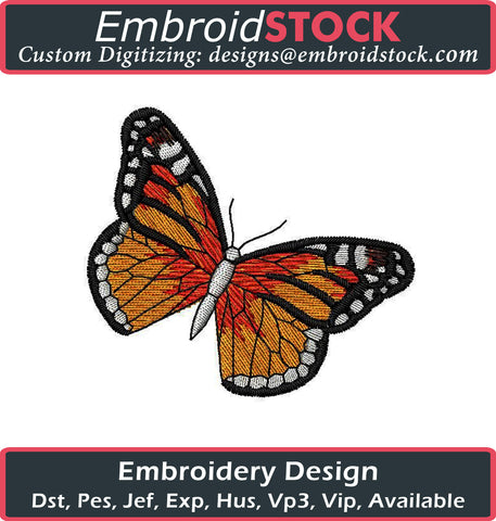 Butterfly Embroidery Design - Embroidstock