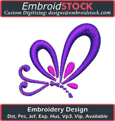 Colorful Butterfly Embroidery Design - Embroidstock