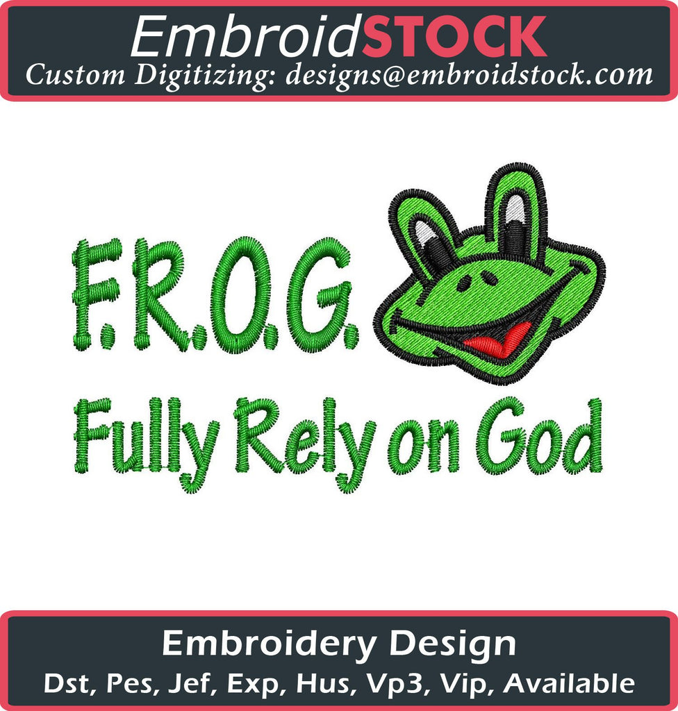 F.R.O.G Embroidery Design - Embroidstock