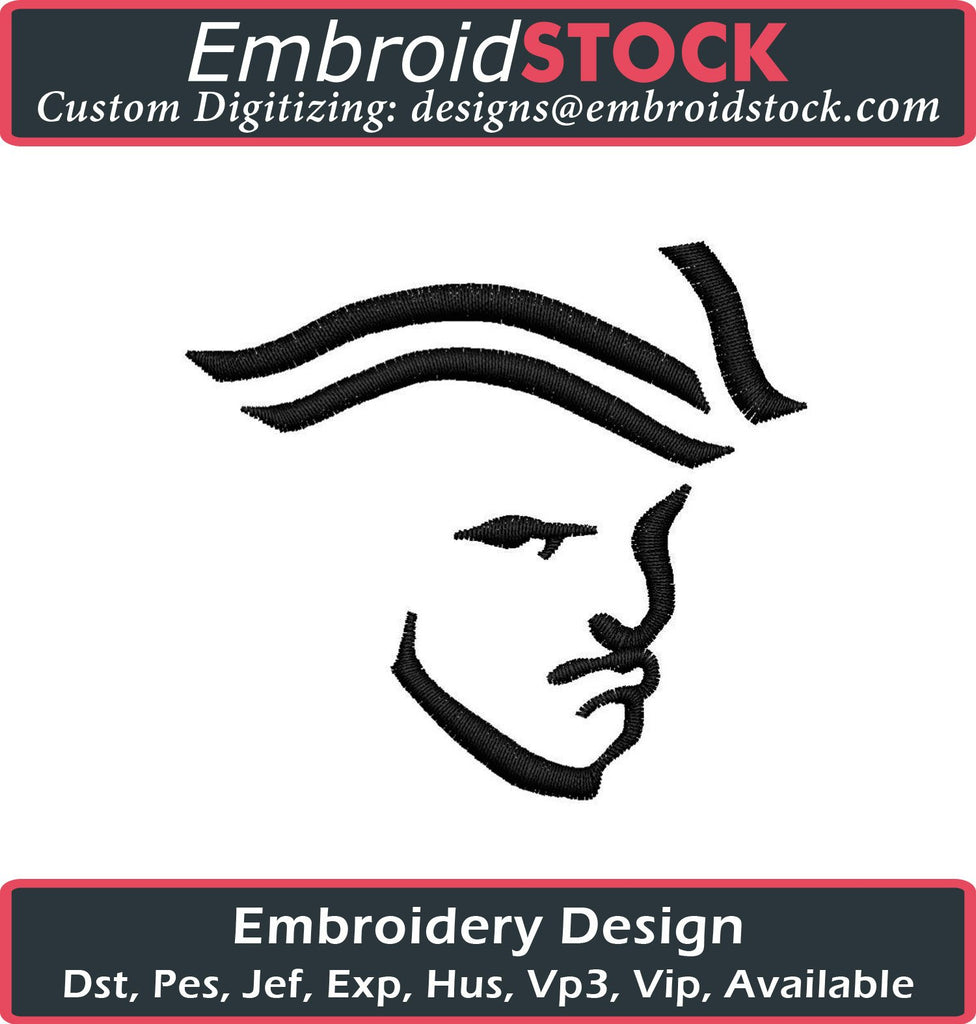 Patriot Face Embroidery Design - Embroidstock