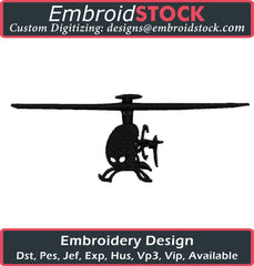 Helicopter Embroidery Design - Embroidstock