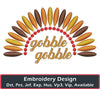 Image of Gobble Gobble Embroidery Design - Embroidstock