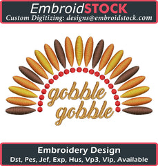 Gobble Gobble Embroidery Design