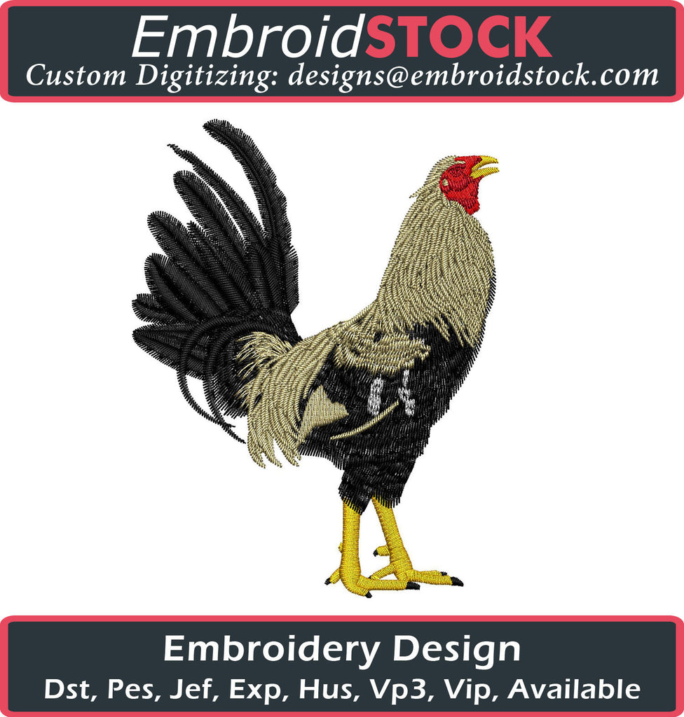 Rooster Logo Embroidery Design - Embroidstock