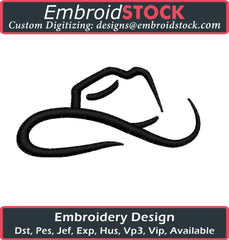 Cowboy Hat Embroidery Design - Embroidstock
