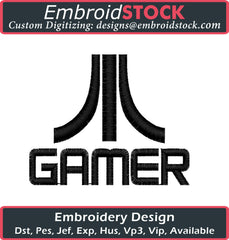 Gamer Embroidery Design - Embroidstock
