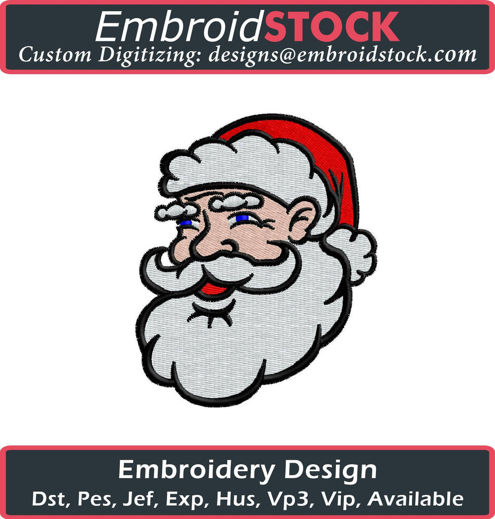 Santa Claus Embroidery Design - Embroidstock