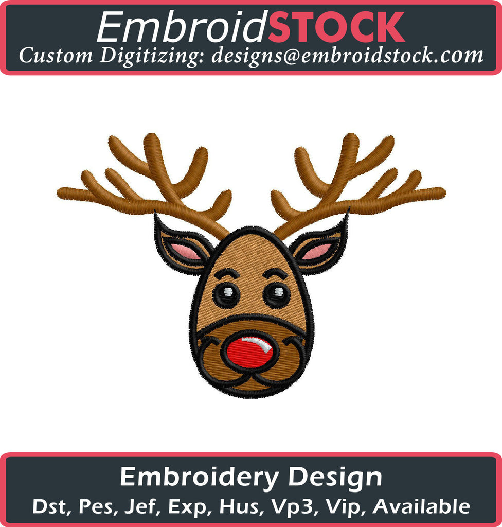 Reindeer Embroidery Design - Embroidstock