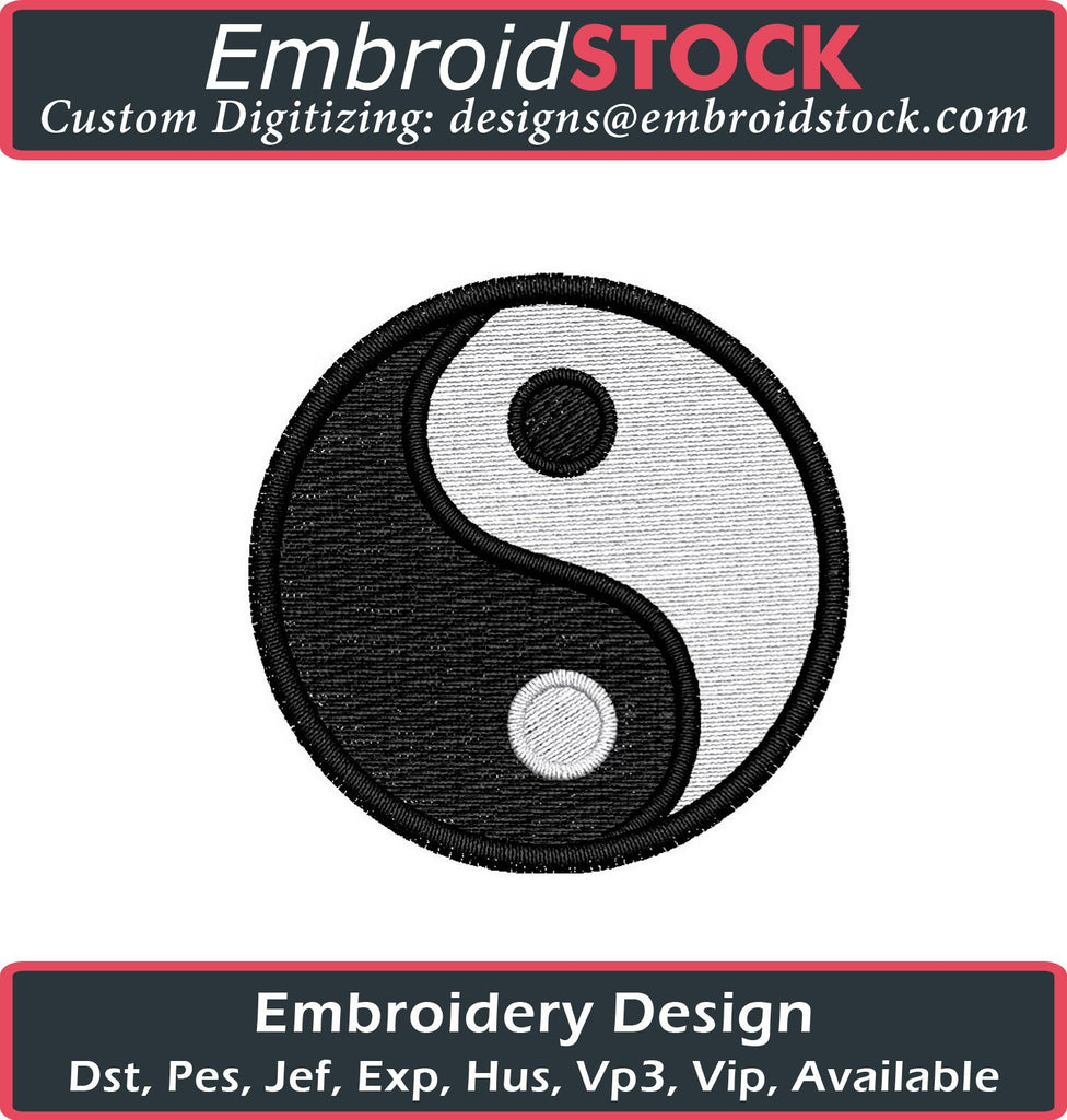 Yin Yang Embroidery design - Embroidstock