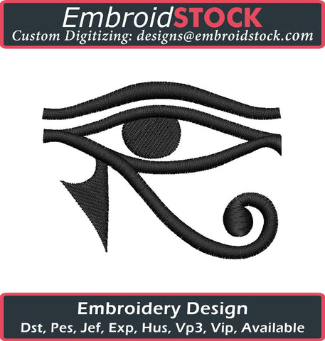 Egyptian Eye Embroidery Design - Embroidstock