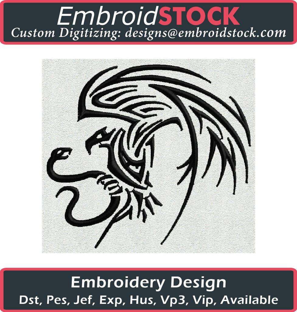 Tattoo Eagle Embroidery Design - Embroidstock