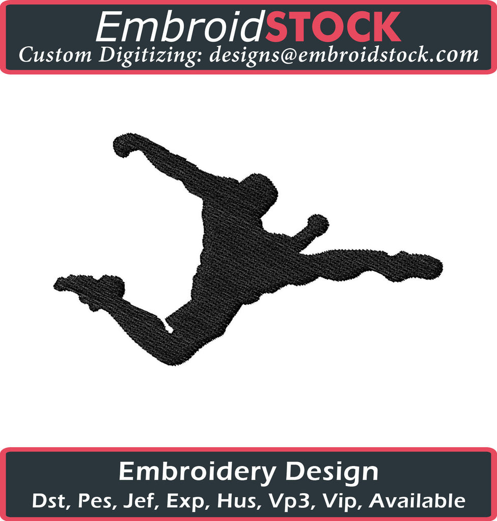 Soccer Player Embroidery Design - Embroidstock