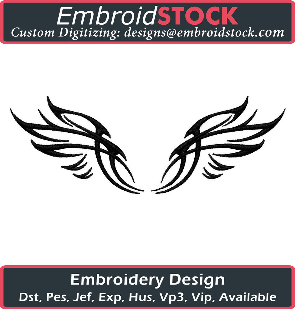 Tattoo Eagle Wings - Embroidstock