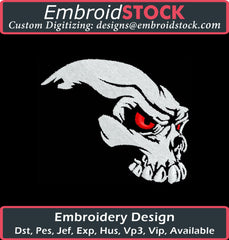 Skull Side View - Embroidstock