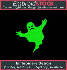 Halloween Spooky Ghost Embroidery Design - Embroidstock