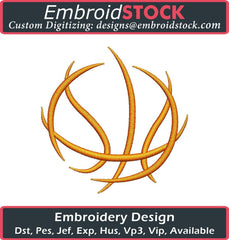 Basket Ball Outline Embroidery Design - Embroidstock