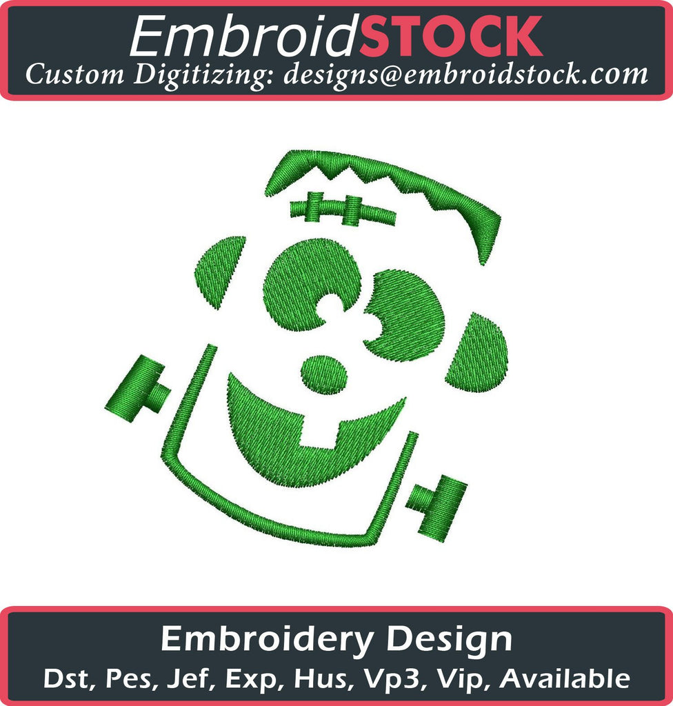 Frankenstein Embroidery Design - Embroidstock