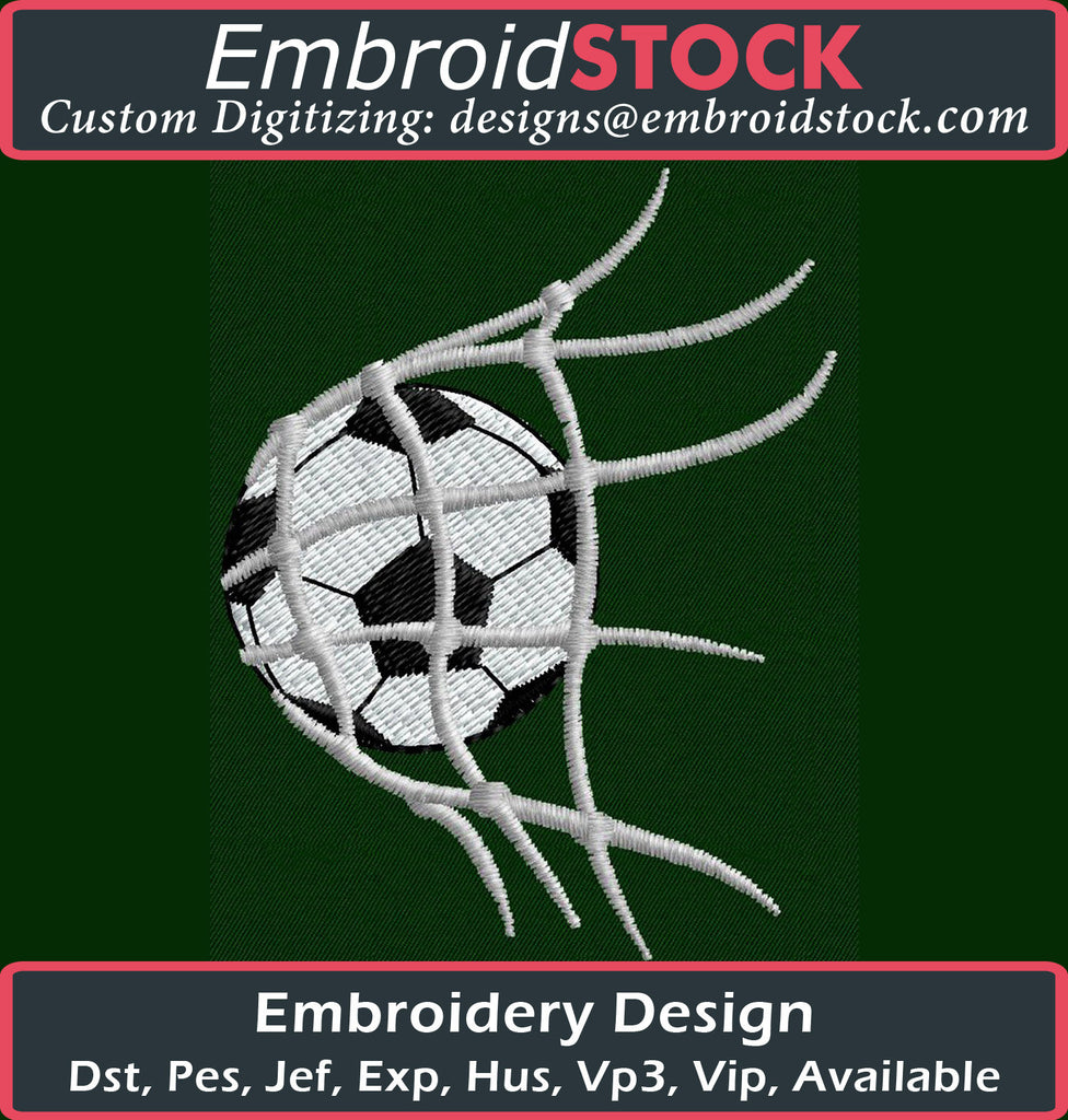 Soccer Goal Embroidery Design - Embroidstock