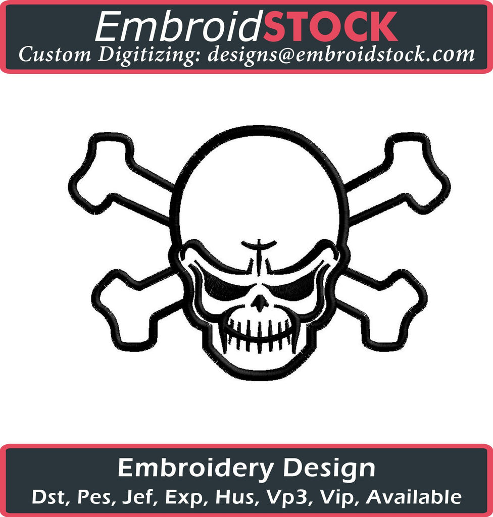 Skull Embroidery Design - Embroidstock