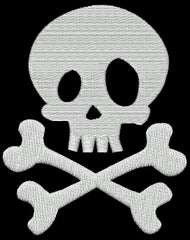 Pirate Skull Embroidery Design - Embroidstock