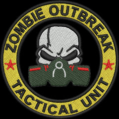 Zombie Outbreak Response Team Embroidery Design