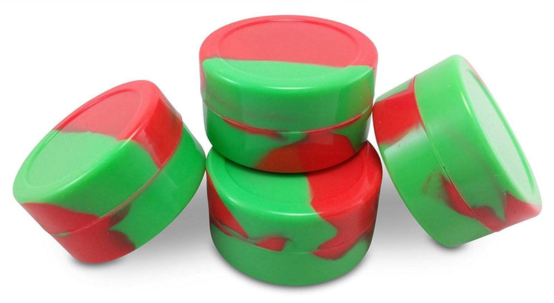 4 Pack of 22ml Large Nonstick Silicone DAB Container + dabbers and extra smaller jar
