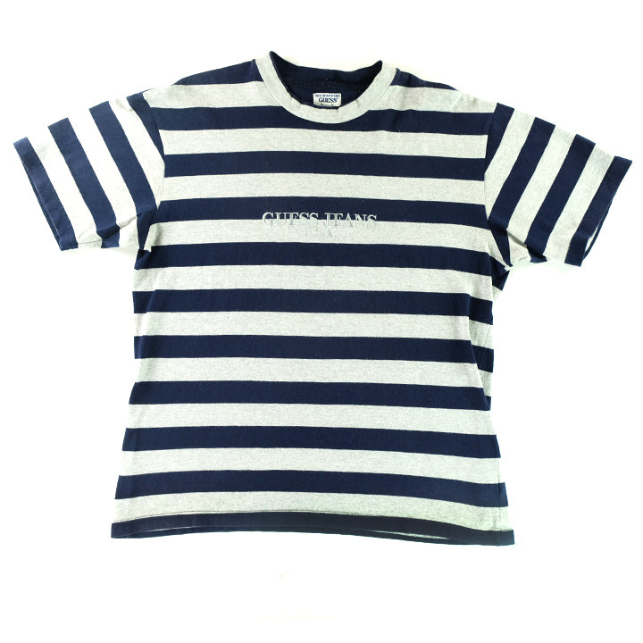 111d27f1 Vintage 80s Original Guess Jeans Stripe Embroidered T-Shirt - L. Product  image 1 ...