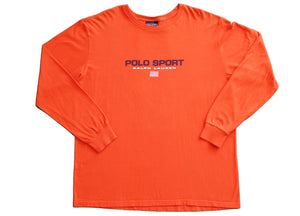 Polo Sport Spell Out Long Sleeve - Orange