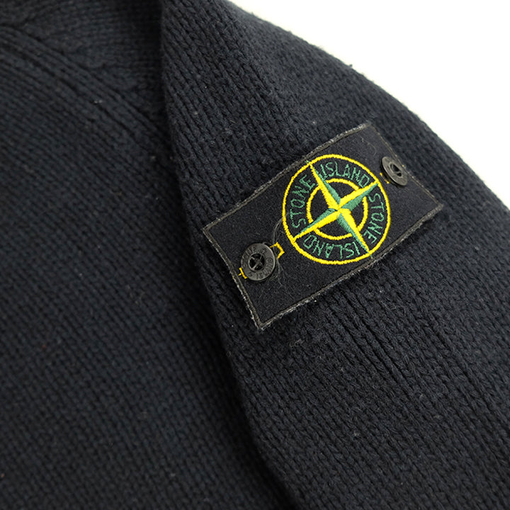 Stone Island AW 2002 Mock Neck Wool Sweater Made In Italy - M
