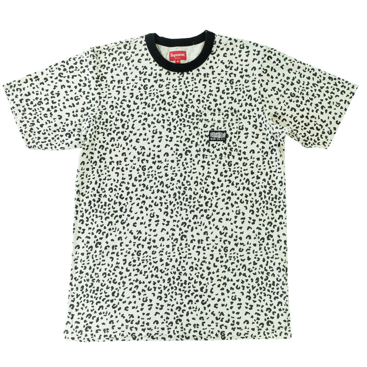 Supreme Leopard Print Fuck Em All Pocket T-Shirt - M