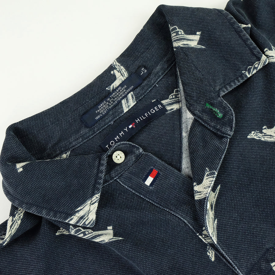 Tommy Hilfiger All Over Boat Pattern Polo Shirt - L