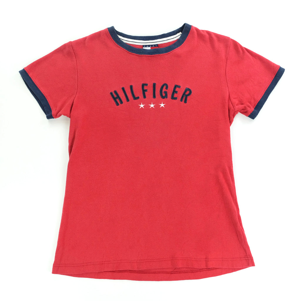 e413eec91 Tommy Hilfiger Embroidered Spell Out T-Shirt - S – Steep Store