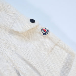 Vintage Moncler Quarter Zip Wool Sweater Made In Italy - XS