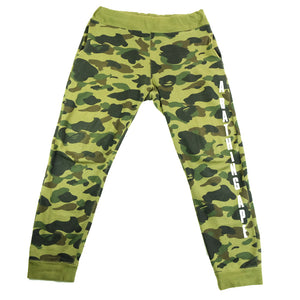A Bathing Ape 1st Camo Spell Out Track Pants - M