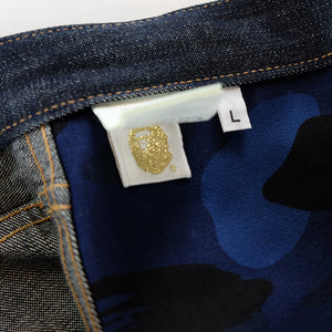 A Bathing Ape Head Denim Jeans - L