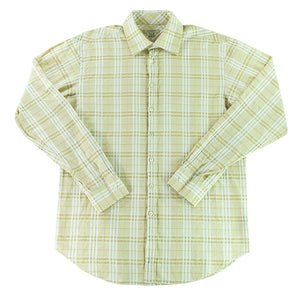 Burberry Check Long Sleeve Button Up Shirt - L