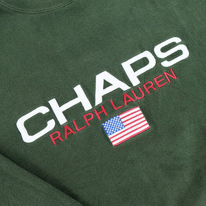 Chaps Ralph Lauren 'RARE' Big Embroidered Spell Out Crewneck - M/L