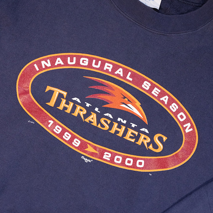 Vintage Atlanta Thrashers Spell Out Graphic Crewneck - XL