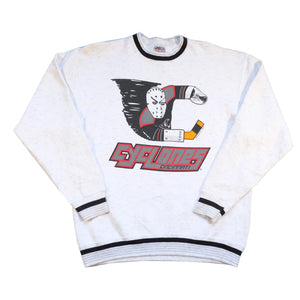 Vintage 1992 Cincinnati Cyclones Big Graphic Crewneck - L