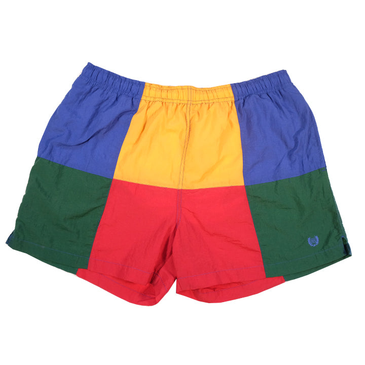 Givenchy Colour Block Embroidered Logo Shorts - XL