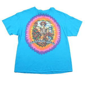 Grateful Dead Skeleton Graphic Tie Dye T-Shirt - XL