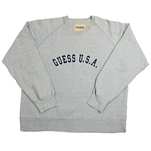 Vintage RARE Guess USA Embroidered Crewneck - L