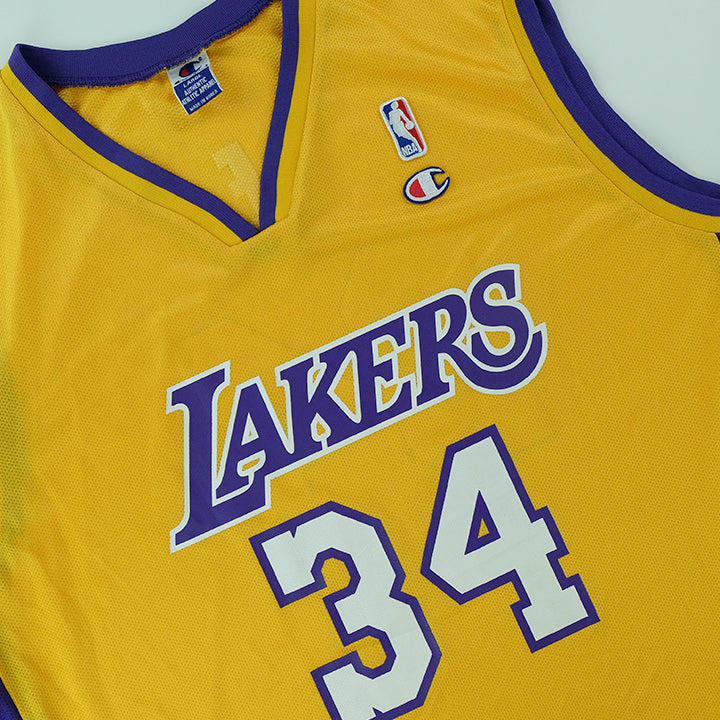 Vintage Champion Lakers O'Neal Jersey - L